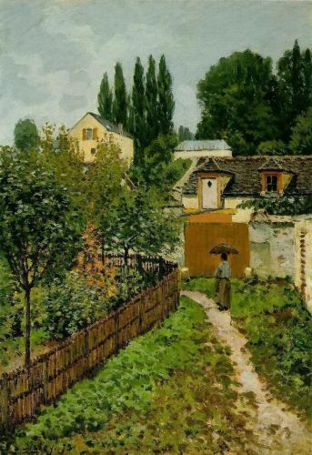 Garden Path in Louveciennes, 1873 by Alfred Sisley