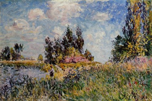 Landscape: The Banks of the Loing at Saint-Mammes, 1881 by Alfred Sisley