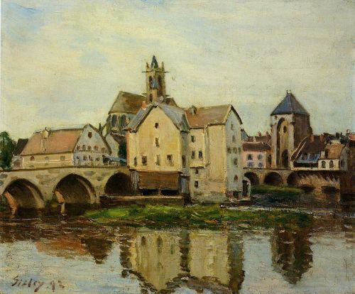 Moret-sur-Loing, Morning, 1892 by Alfred Sisley