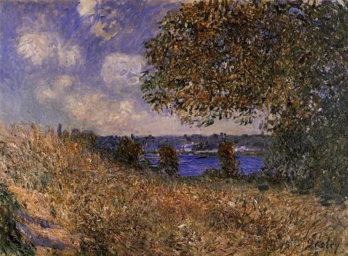 Near the Bank of the Seine at By, 1882 by Alfred Sisley