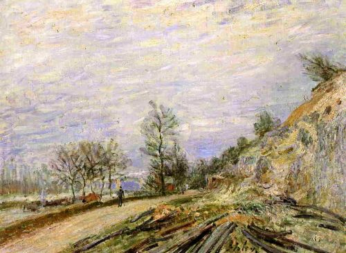 On the Road from Moret, 1882 by Alfred Sisley