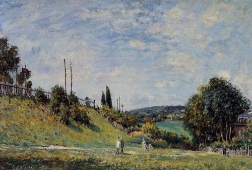 Railroad Embankment at Sevres, 1879 by Alfred Sisley