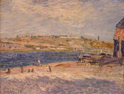 Riverbanks at Saint-Mammes, 1884 by Alfred Sisley