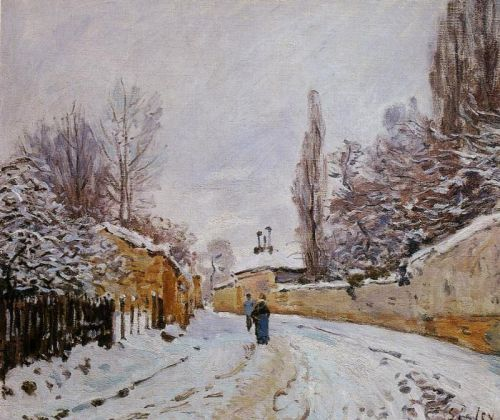Road under Snow, Louveciennes, 1875 by Alfred Sisley