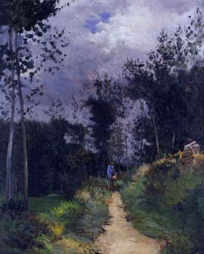 Rural Guardsman in the Fountainbleau Forest, 1870 by Alfred Sisley