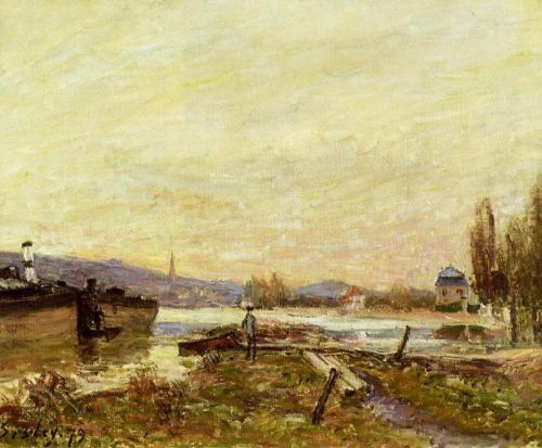 Saint-Cloud, Banks of the Seine, 1879 by Alfred Sisley