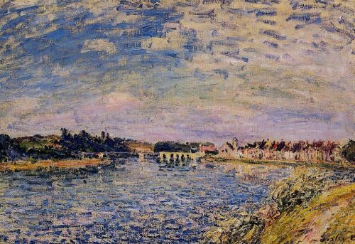 Saint-Mammes, Evening, 1885 by Alfred Sisley