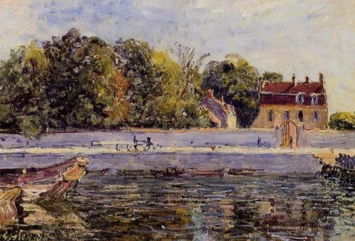 Saint-Mammes: House on the Canal du Loing, 1885 by Alfred Sisley