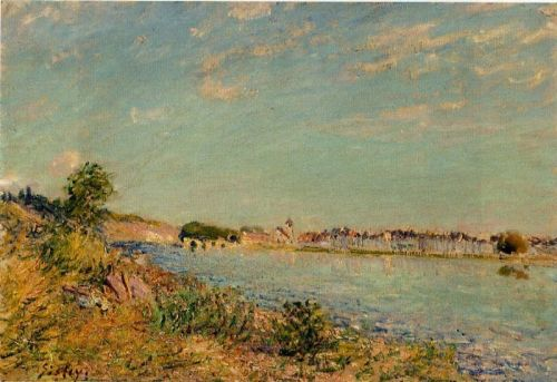 Saint-Mammes, 1885 by Alfred Sisley