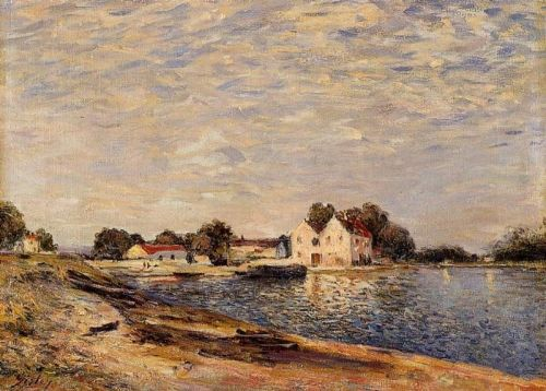 Saint-Mammes and the Banks of the Loing, 1884 by Alfred Sisley