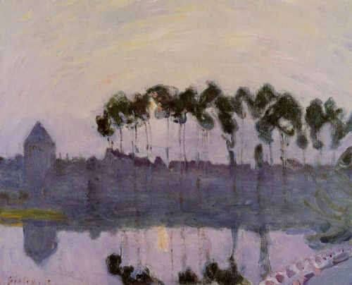 Setting Sun at Moret, 1892 by Alfred Sisley