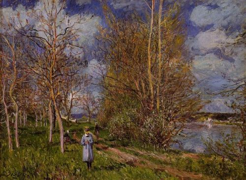 Small Meadow in Spring (Les Petits Prés au printemps), 1881 by Alfred Sisley