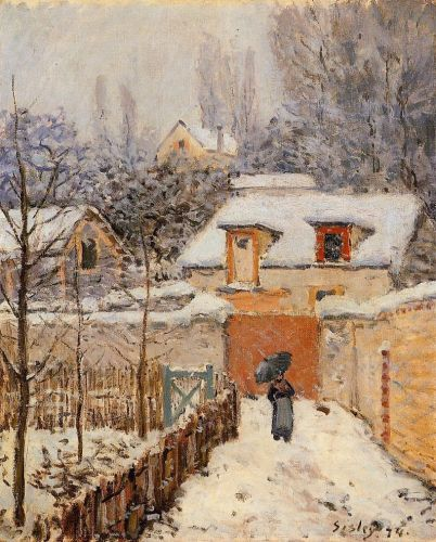Snow at Louveciennes, 1874 by Alfred Sisley