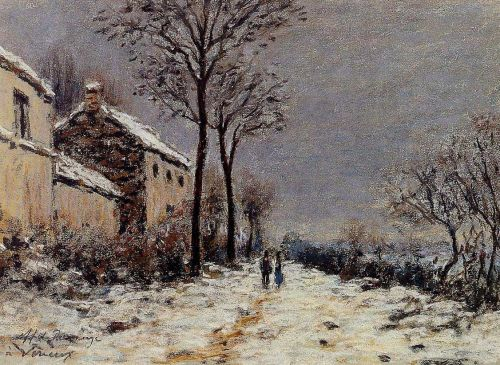 Snow Effect at Veneux by Alfred Sisley