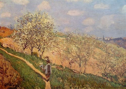 Spring in Bougival, 1873 by Alfred Sisley