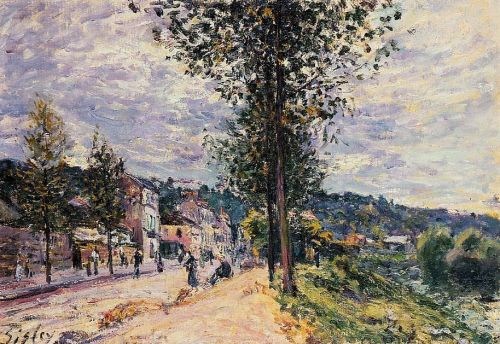 Street Entering the Village, 1880 by Alfred Sisley