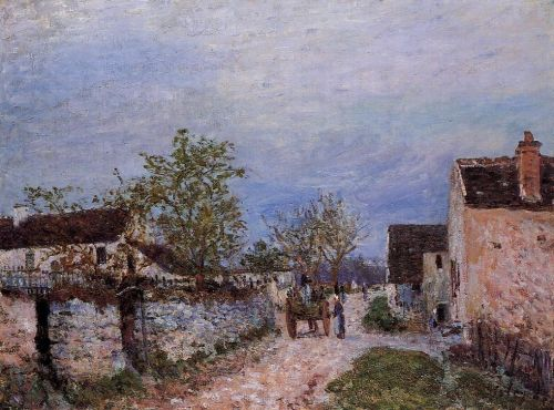 Street in Veneux, 1883 by Alfred Sisley