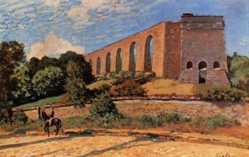 The Aqueduct at Marly, 1874 by Alfred Sisley