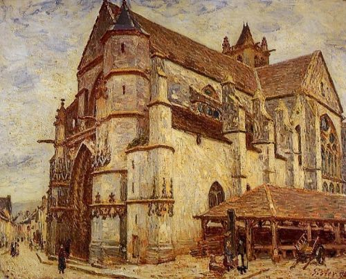 The Church at Moret, Icy Weather, 1893 by Alfred Sisley