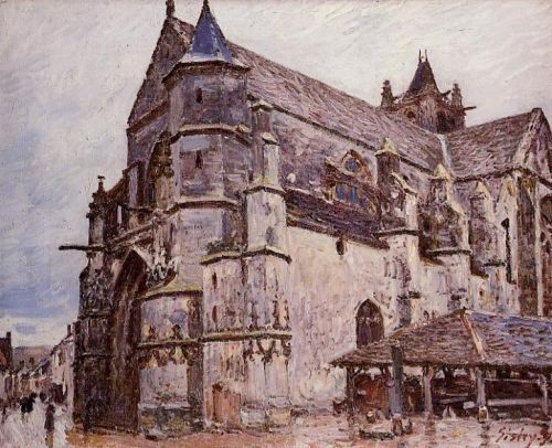 The Church at Moret, Rainy Morning, 1893 by Alfred Sisley