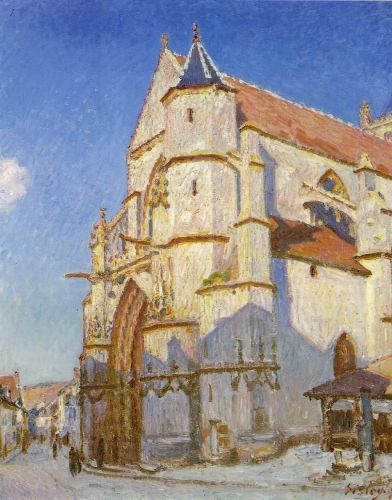 The Church at Moret, 1894 by Alfred Sisley