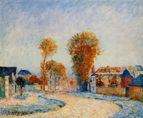 The First Hoarfrost, 1876 by Alfred Sisley