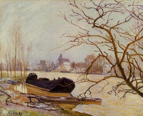 The Loing at High Water, 1889 by Alfred Sisley