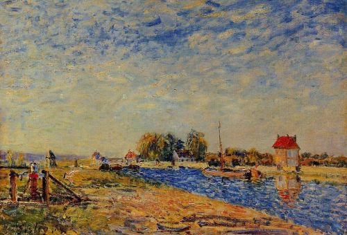 The Loing Canal, 1884 by Alfred Sisley