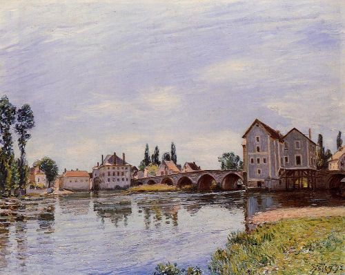The Loing Flowing under the Moret Bridge, 1892 by Alfred Sisley