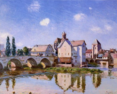 The Moret Bridge in the Sunlight, 1892 by Alfred Sisley