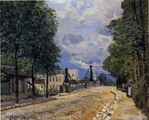 The Road from Gennevilliers, 1872 by Alfred Sisley