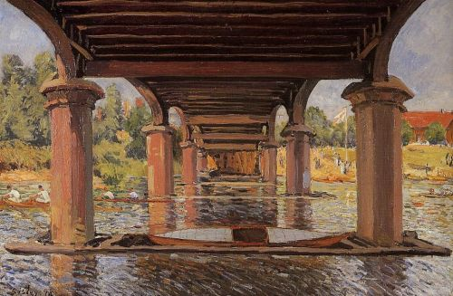 Under the Bridge at Hampton Court, 1874 by Alfred Sisley