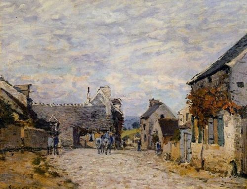Village Street, Louveciennes, 1874 by Alfred Sisley