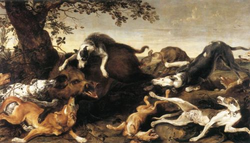 Wild Boar Hunt by Frans Snyders