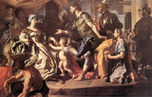 Dido Receiveng Aeneas and Cupid Disguised as Ascanius by Francesco Solimena