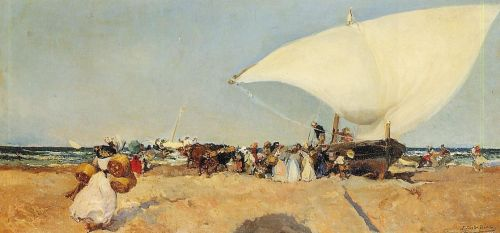 Arrival of the Boats by Joaquin Sorolla Y Bastida