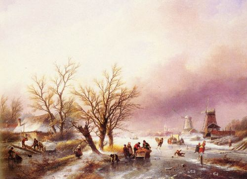 A Winter Landscape by Jan Jacob Coenraad Spohler