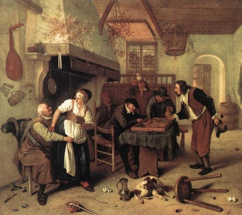 In the Tavern by Jan Steen