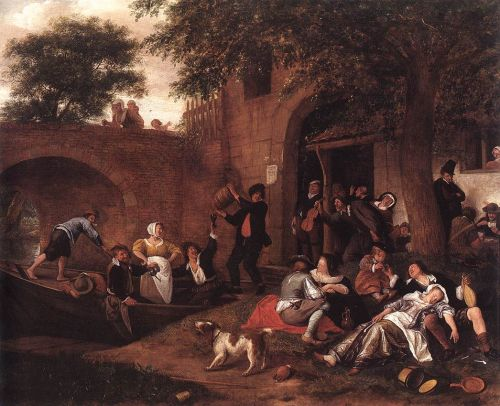 Leaving the Tavern by Jan Steen