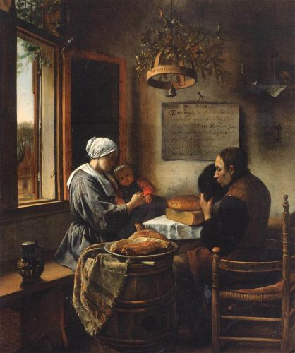 Prayer before the Meal by Jan Steen