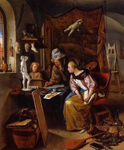 The Drawing Lesson by Jan Steen