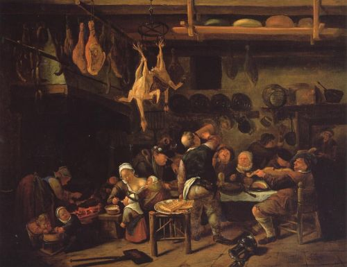 The Fat Kitchen by Jan Steen