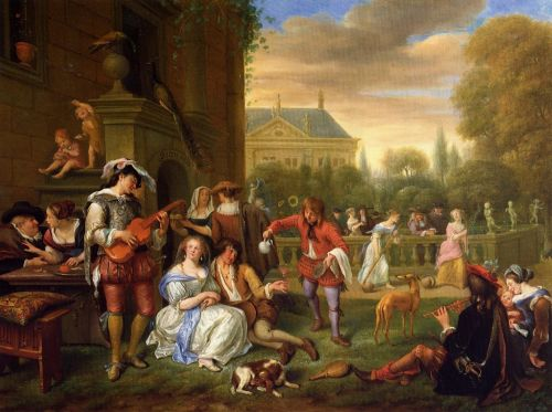 The Garden Party by Jan Steen