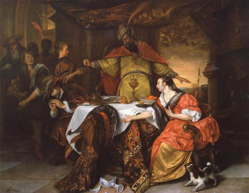 The Wrath of Ahasuerus by Jan Steen