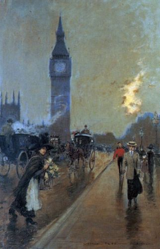 A view of Big Ben, London by Georges Stein