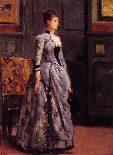 Portrait of a Woman in Blue by Alfred Stevens