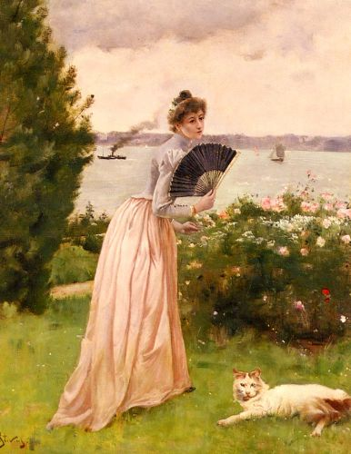 The Lady with the Fan by Alfred Stevens