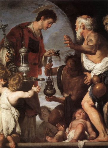 The Charity of St Lawrence by Bernardo Strozzi