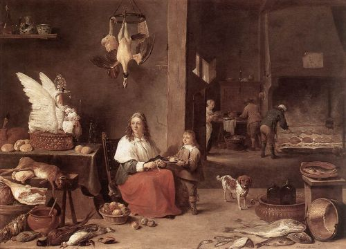 Kitchen Scene by David Teniers the Younger