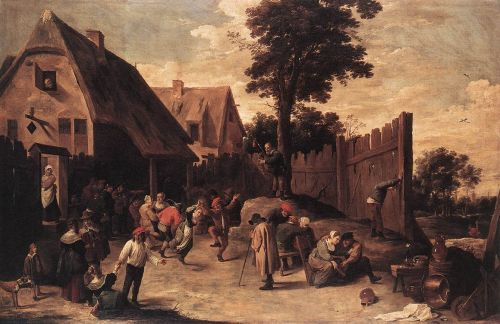 Peasants Dancing outside an Inn by David Teniers the Younger